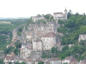 Rocamadour vanaf het panorama terras in L'Hospital.