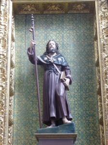 Astorga. St. Jacobs beeld in kathedraal.
