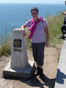 Cabo Finisterre 0,00 km paal van de Camino.